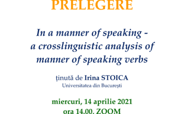 Prelegere Irina Stoica